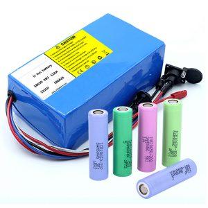 Lithiumbatterij 18650 48V 12AH 48V 500W elektrische fietsbatterij met BMS