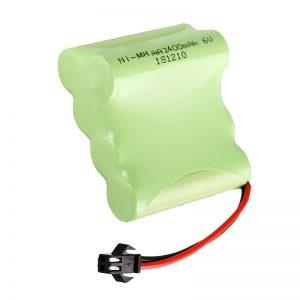 Oplaadbare NiMH-batterij AA2400 6V Oplaadbare elektrische speelgoedgereedschappen Batterijpak