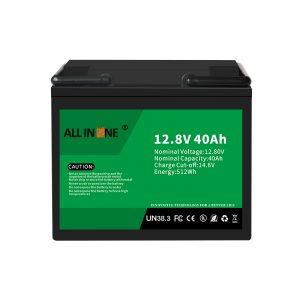 12.8V 40Ah LiFePO4 Lood-zuur vervangende lithium-ionbatterij 12V 40Ah