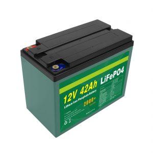 Het onderhoud paste het Zonnepak van de de Cellifepo4 Batterij van 12v 40ah 42ah Lifepo4 met BMS aan