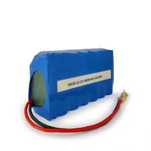 Aangepaste ICR18650 li-ion batterij 6S2P oplaadbare 22.2v 4000mAh lithium-ion batterij