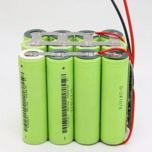 Groothandel aangepaste 18650 lithium 4s3p waterdichte printplaat diepe cyclus batterij 12v 10AH voor elektrisch gereedschap
