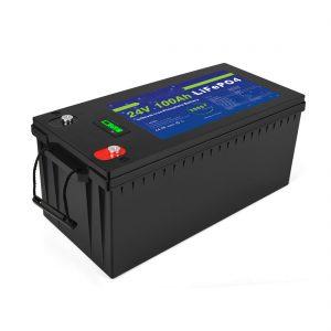 Deep cycle lithium-ionbatterij Lifepo4 24v 200ah zonne-accu 3500+ cycli li-ionbatterijpak