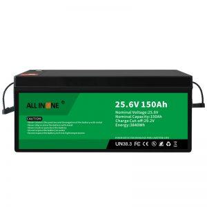 25.6V 150Ah LiFePO4 Lood-zuurvervanging Lithium-ionbatterij 24V 150Ah
