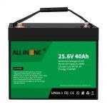25.6V 40Ah lithium-ijzerfosfaatbatterij / vervanging