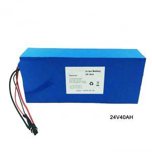Elektrische fiets Fiets 24 volt lithiumbatterij 24 V 40 Ah NMC Li-ionbatterij Oplaadbare batterij ion lithium