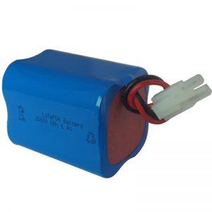 lifepo4 zonne-licht batterij 6.4v 6ah 2S2P draagbaar