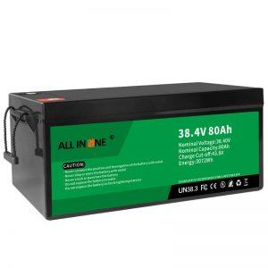 38.4V 80Ah LiFePO4 loodzuur vervangende lithium-ionbatterij, 36V 80Ah