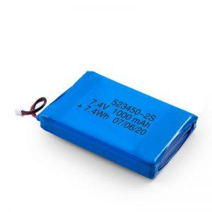 LiPO oplaadbare batterij 523450 3.7V 1000mAH / 7.4V 1000mAH / 3.7V 2000mAH