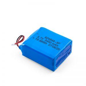 LiPO oplaadbare batterij 624948 3,7 V 1800 mAH / 3,7 V 5400 mAH