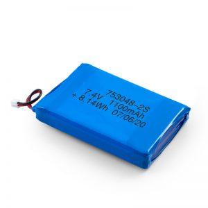 LiPO oplaadbare batterij 753048 3,7 V 1100 mAh / 7,4 V 1100 mAH / 3,7 V 2200 mAH
