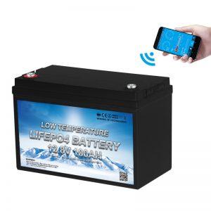 Lage temperatuur LiFePO4-batterij 12V 100AH