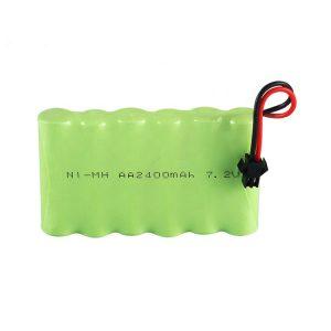 NiMH oplaadbare batterij AA 2400 mAh 7,2 V.
