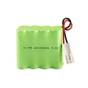 NiMH oplaadbare batterij AA2400 9,6 V.