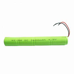 NiMH oplaadbare batterij SC 3600mAH 4.8V