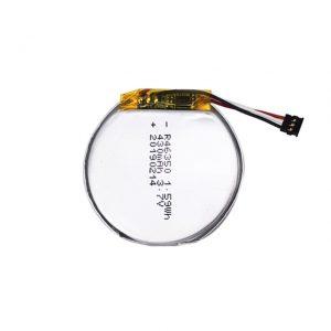 Aangepaste LiPO-batterij 46350 3.7V 350mAH slimme horlogebatterij 46350 kleine platte ronde lithium-polymeerbatterij voor speelgoed