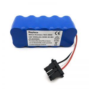 12V ni-mh batterij voor stofzuiger TEC-5500, TEC-5521, TEC-5531, TEC-7621, TEC-7631